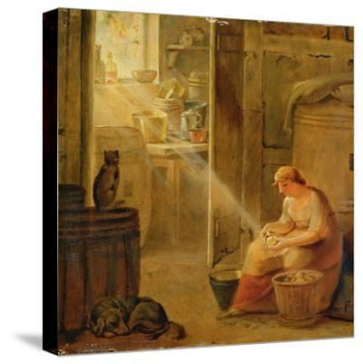 Interior (The Potato)-Johann Heinrich Wilhelm Tischbein-Stretched Canvas Print