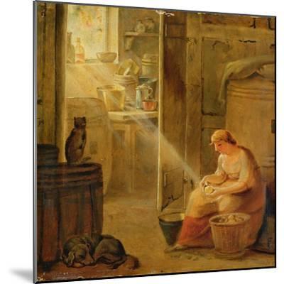 Interior (The Potato)-Johann Heinrich Wilhelm Tischbein-Mounted Giclee Print