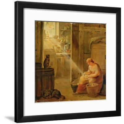 Interior (The Potato)-Johann Heinrich Wilhelm Tischbein-Framed Giclee Print