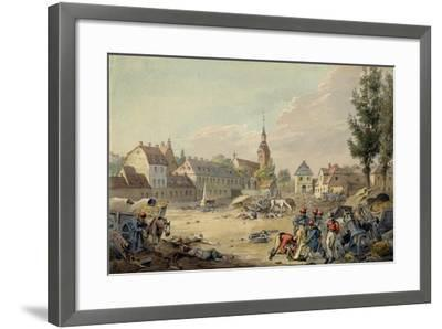 View of the Grimma Suburb, Leipzig, 1813-John Augustus Atkinson-Framed Giclee Print
