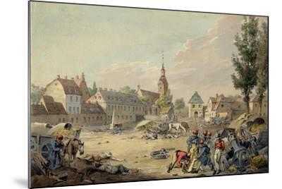 View of the Grimma Suburb, Leipzig, 1813-John Augustus Atkinson-Mounted Giclee Print