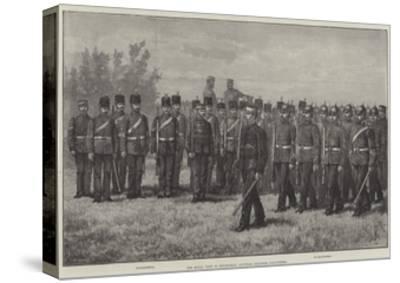 The Royal Visit to Edinburgh, Scottish Engineer Volunteers-Johann Nepomuk Schonberg-Stretched Canvas Print