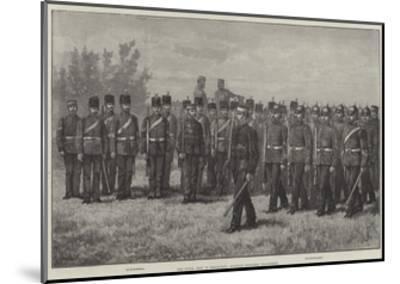The Royal Visit to Edinburgh, Scottish Engineer Volunteers-Johann Nepomuk Schonberg-Mounted Giclee Print
