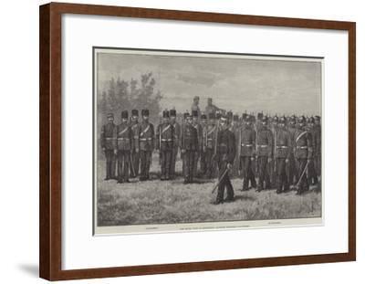 The Royal Visit to Edinburgh, Scottish Engineer Volunteers-Johann Nepomuk Schonberg-Framed Giclee Print