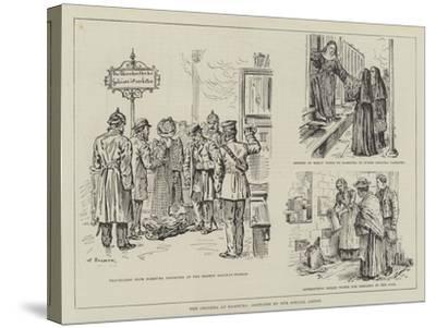 The Cholera at Hamburg-Johann Nepomuk Schonberg-Stretched Canvas Print