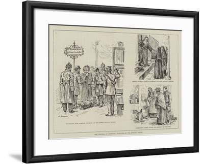 The Cholera at Hamburg-Johann Nepomuk Schonberg-Framed Giclee Print