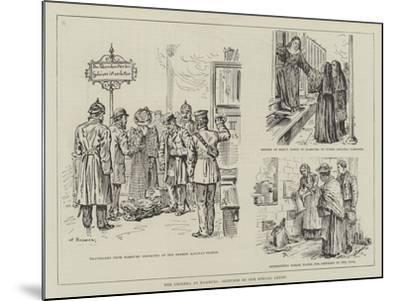 The Cholera at Hamburg-Johann Nepomuk Schonberg-Mounted Giclee Print