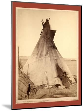 A Young Oglala Girl Sitting in Front of a Tipi-John C. H. Grabill-Mounted Giclee Print