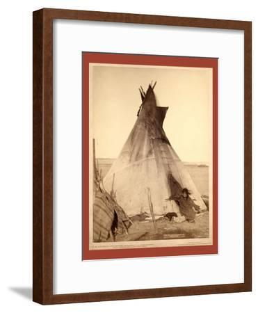 A Young Oglala Girl Sitting in Front of a Tipi-John C. H. Grabill-Framed Giclee Print