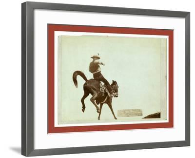 Bucking Bronco. Ned Coy-John C. H. Grabill-Framed Giclee Print