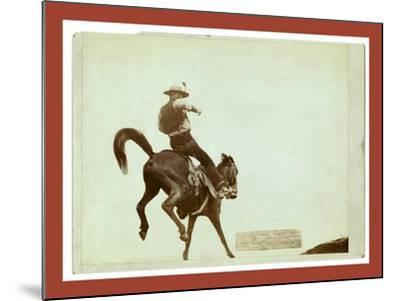 Bucking Bronco. Ned Coy-John C. H. Grabill-Mounted Giclee Print