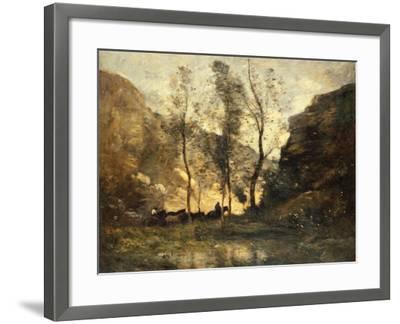 The Smugglers, C.1871-72-Jean-Baptiste-Camille Corot-Framed Giclee Print
