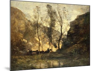 The Smugglers, C.1871-72-Jean-Baptiste-Camille Corot-Mounted Giclee Print