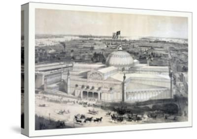 Birds Eye View of the New York Crystal Palace and Environ, 19th Century, USA, America-John Bachmann-Stretched Canvas Print