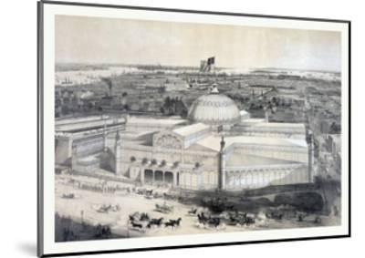 Birds Eye View of the New York Crystal Palace and Environ, 19th Century, USA, America-John Bachmann-Mounted Giclee Print