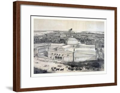 Birds Eye View of the New York Crystal Palace and Environ, 19th Century, USA, America-John Bachmann-Framed Giclee Print