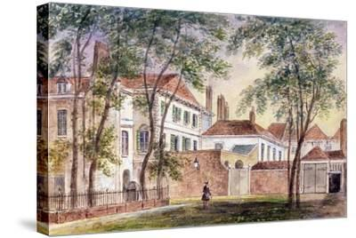View of the House and Museum of the Late Duchess of Portland (1715-1785) 1796-John Bromley-Stretched Canvas Print