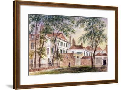 View of the House and Museum of the Late Duchess of Portland (1715-1785) 1796-John Bromley-Framed Giclee Print