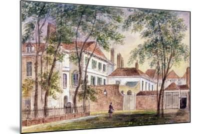 View of the House and Museum of the Late Duchess of Portland (1715-1785) 1796-John Bromley-Mounted Giclee Print