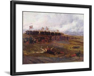 Stretcher-Bearers on the Battlefield During the Siege of Paris-Jean-Baptiste Edouard Detaille-Framed Giclee Print
