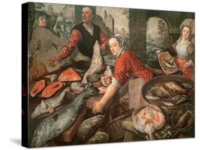 The Fish Market-Joachim Bueckelaer-Stretched Canvas Print
