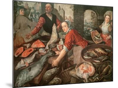 The Fish Market-Joachim Bueckelaer-Mounted Giclee Print