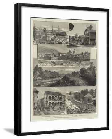 Views on the Route of the Panama Canal-Johann Nepomuk Schonberg-Framed Giclee Print