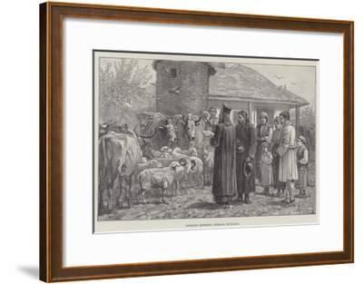 Blessing Domestic Animals, Bulgaria-Johann Nepomuk Schonberg-Framed Giclee Print