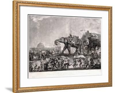 Embassy of Hyderbeck to Calcutta-Johann Zoffany-Framed Giclee Print