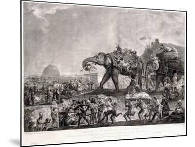 Embassy of Hyderbeck to Calcutta-Johann Zoffany-Mounted Giclee Print
