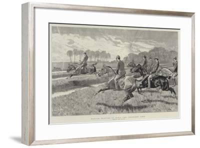 Pariah Hunting in India, the Gridiron Jump-John Charlton-Framed Giclee Print
