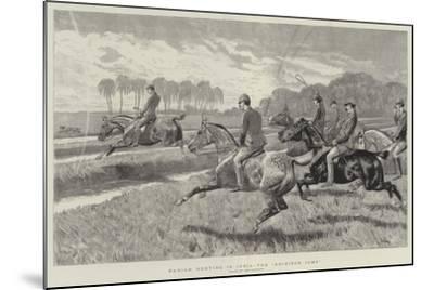 Pariah Hunting in India, the Gridiron Jump-John Charlton-Mounted Giclee Print
