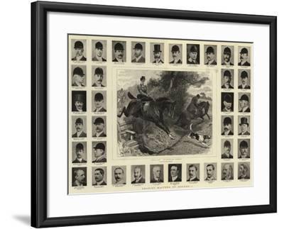 Leading Masters of Hounds, I-John Charlton-Framed Giclee Print