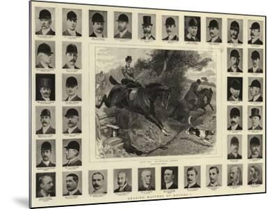 Leading Masters of Hounds, I-John Charlton-Mounted Giclee Print