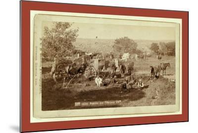 Mess Scene on Round Up-John C. H. Grabill-Mounted Giclee Print
