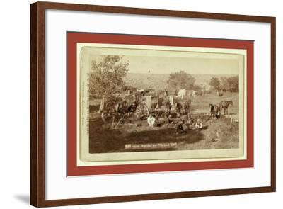 Mess Scene on Round Up-John C. H. Grabill-Framed Giclee Print