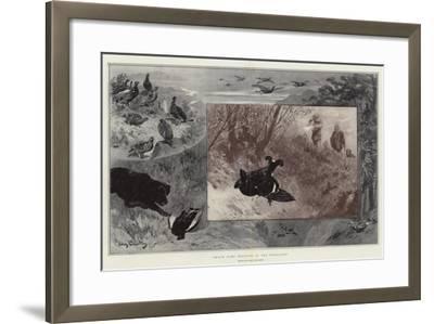 Black Game Shooting in the Highlands-John Charlton-Framed Giclee Print