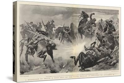 A Messenger of Death, a Good Shot by the Naval Brigade at Estcourt, on 18 November-John Charlton-Stretched Canvas Print