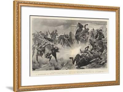 A Messenger of Death, a Good Shot by the Naval Brigade at Estcourt, on 18 November-John Charlton-Framed Giclee Print