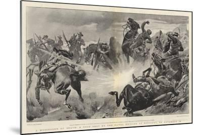 A Messenger of Death, a Good Shot by the Naval Brigade at Estcourt, on 18 November-John Charlton-Mounted Giclee Print