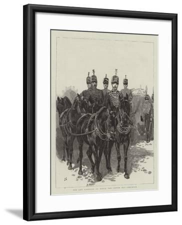 The Gun Carriage on Which the Coffin Was Conveyed-John Charlton-Framed Giclee Print