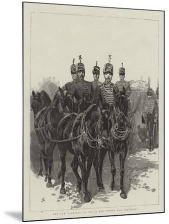 The Gun Carriage on Which the Coffin Was Conveyed-John Charlton-Mounted Giclee Print