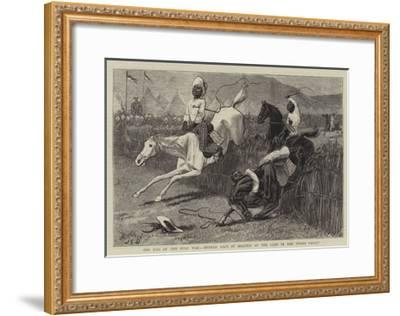 The End of the Zulu War, Hurdle Race by Basutos at the Camp in the Upoko Valley-John Charles Dollman-Framed Giclee Print