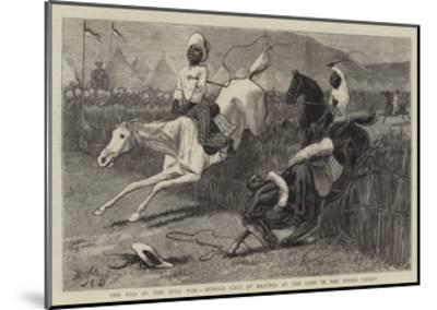 The End of the Zulu War, Hurdle Race by Basutos at the Camp in the Upoko Valley-John Charles Dollman-Mounted Giclee Print