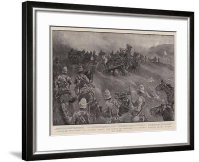 Between Two Fires, an Incident During the March on Kimberley by General French's Relief Column-John Charlton-Framed Giclee Print