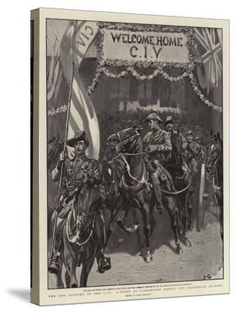 The Gun Battery of the Civ, a Scene at Paddington before the Procession Started-John Charlton-Stretched Canvas Print