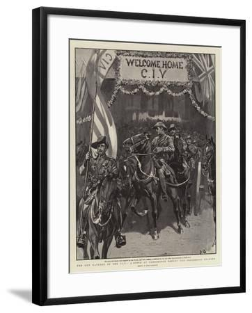 The Gun Battery of the Civ, a Scene at Paddington before the Procession Started-John Charlton-Framed Giclee Print
