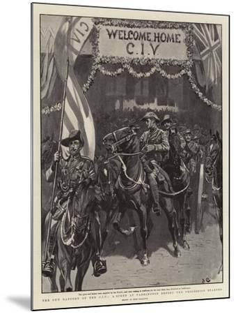The Gun Battery of the Civ, a Scene at Paddington before the Procession Started-John Charlton-Mounted Giclee Print