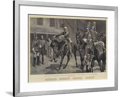 Fighting His Battles over Again, Describing the Charge to His Comrades-John Charlton-Framed Giclee Print