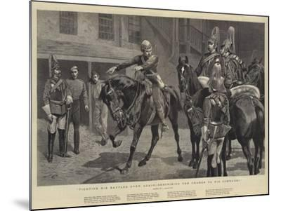 Fighting His Battles over Again, Describing the Charge to His Comrades-John Charlton-Mounted Giclee Print